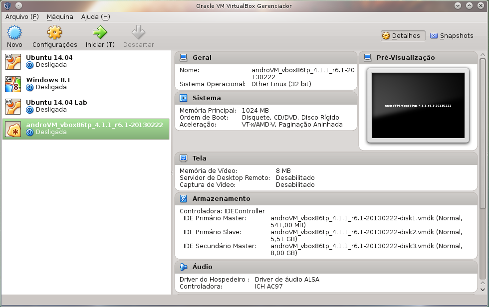 Virtualbox-Android