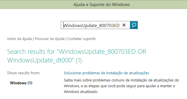 Erro Windows Update 2