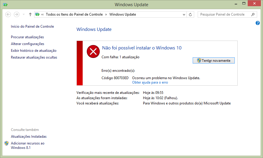 Erro Windows Update