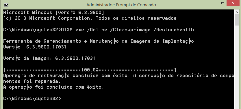 consertando o windows update