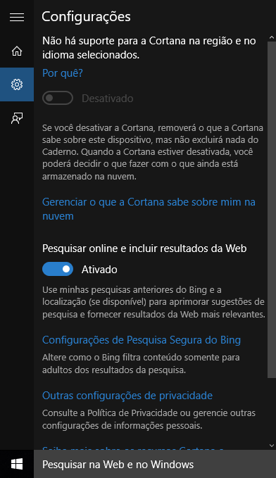 cortana no support